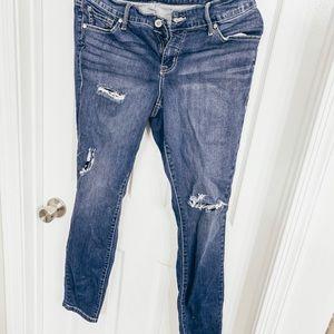Torrid distressed skinny jeans 10